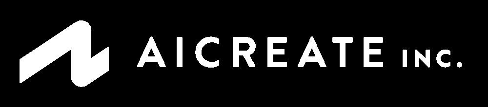 株式会社アイ・クリエイトの単色白色のロゴ