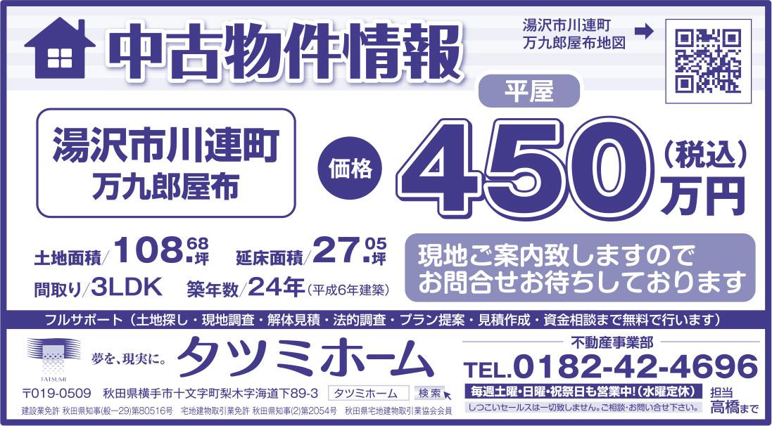 タツミホーム様の2018.11.09号広告